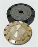 Non stick granulator plate with hard metal replacement coating and inner Lunac 1 coating